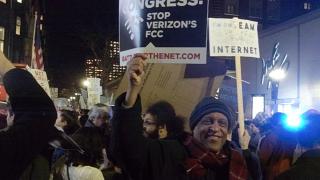 Boylston Street, Boston. December 7, 2017. Keep net neutrality demonstration. Image 4906