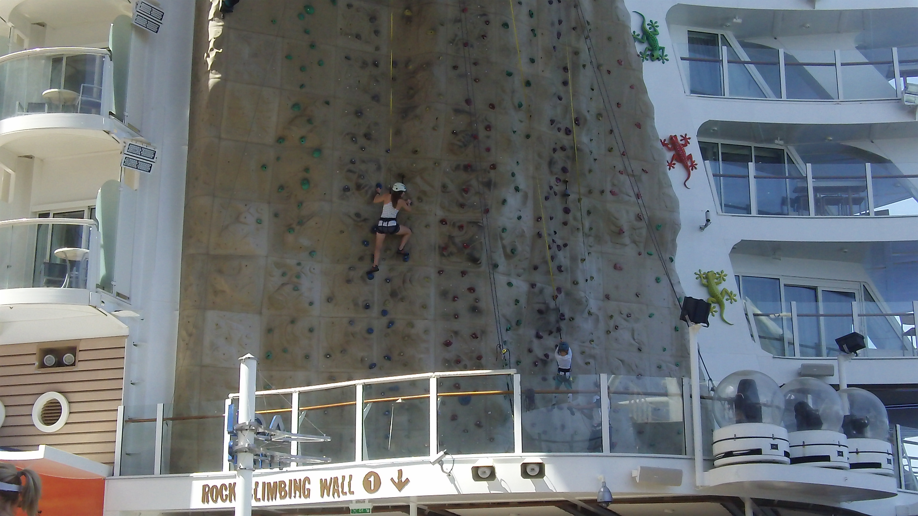 Rock Climbing Wall. Allure of the Seas. Click to view larger version