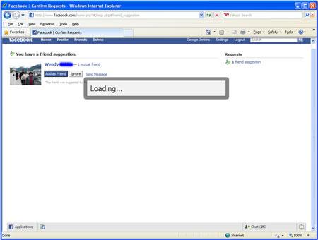 Facebook Loading Error Message