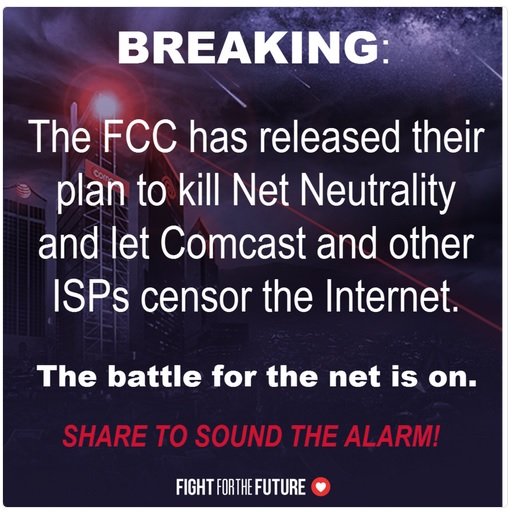 Take action today to defend net neutrality protections. Fight For The Future