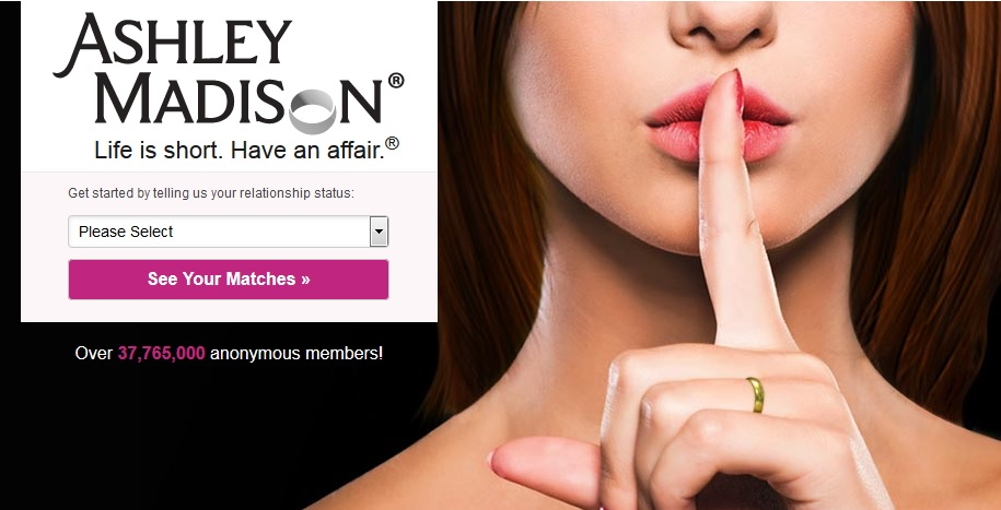 Ashley Madison home page image