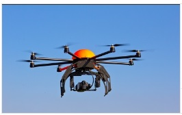 Image of a drone or unmanned aircraft