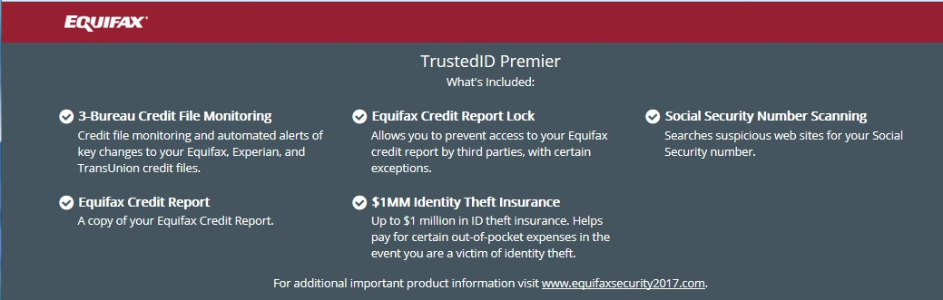 Overview of features. TrustedID Premier service. Click to view larger version