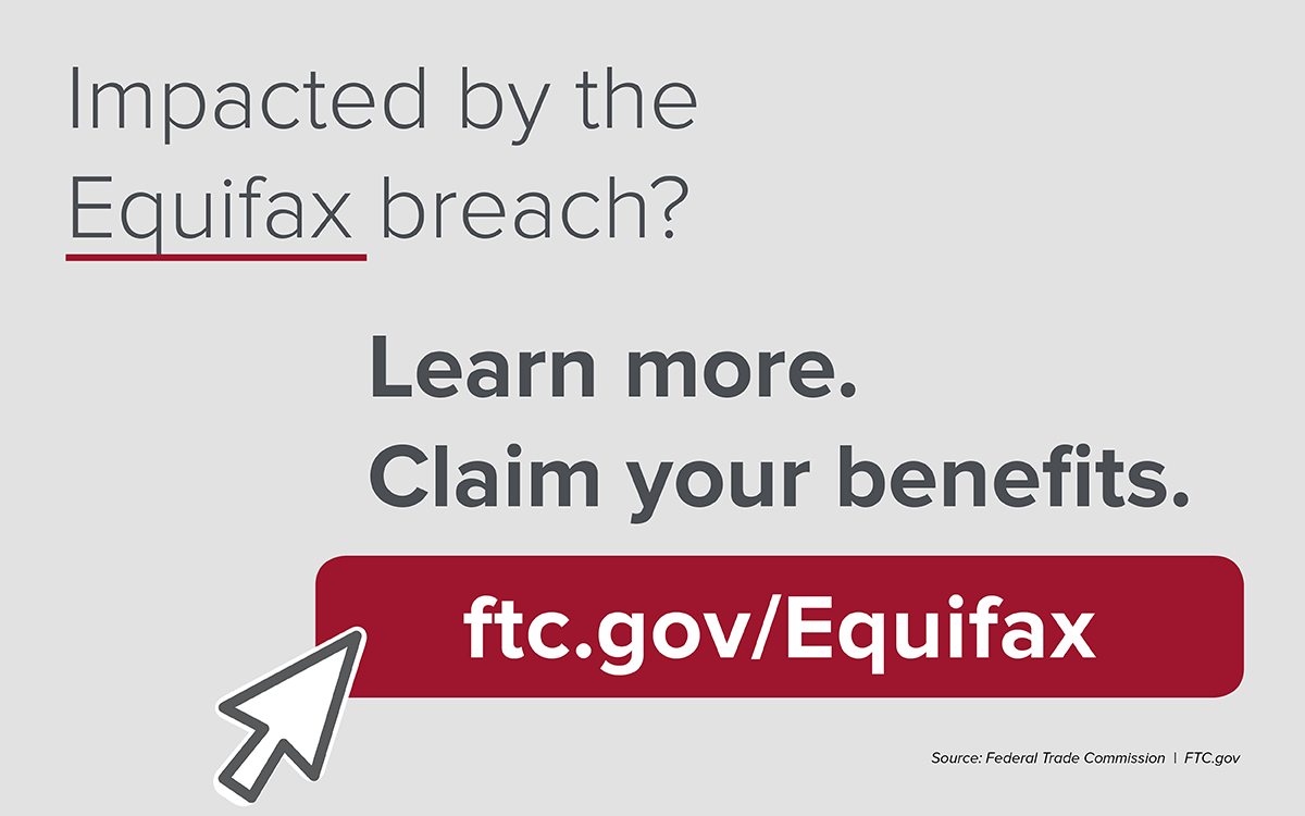 F.T.C. instructions for consumers affected by Equifax breach
