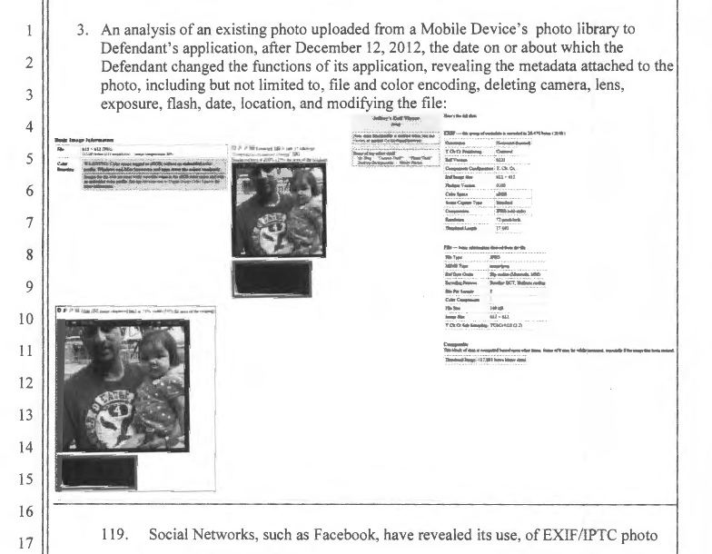 Photo with metadata listing from Gutierrez et. al. v Instagram complaint