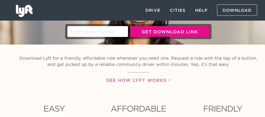 Lyft benefits. Click to view larger image