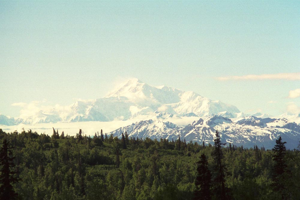 Clear view of Mount Denali in 2005. Click to view larger image