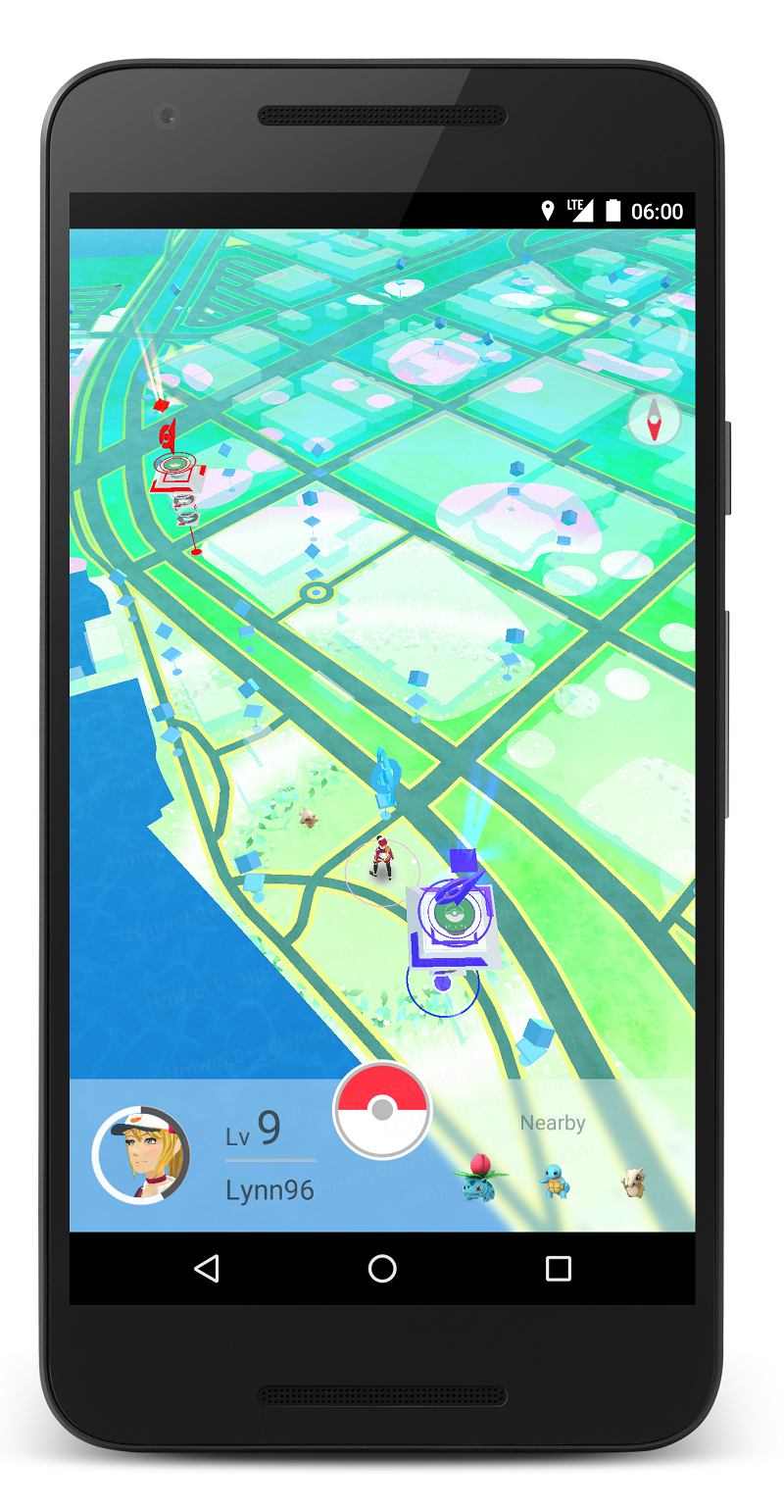 Pokemon Go mobile game image. Click to view larger version