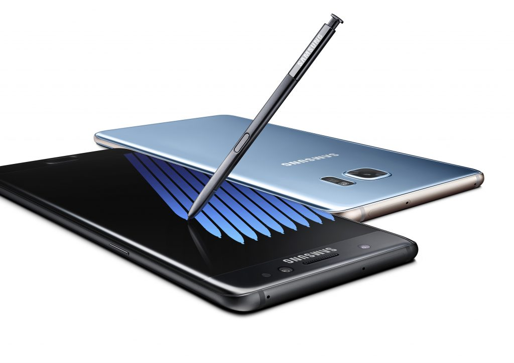 Image of Samsung Galaxy Note7 smartphone. Click to view larger version