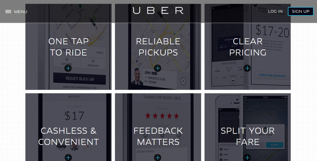 Uber benefits. Click to view larger image