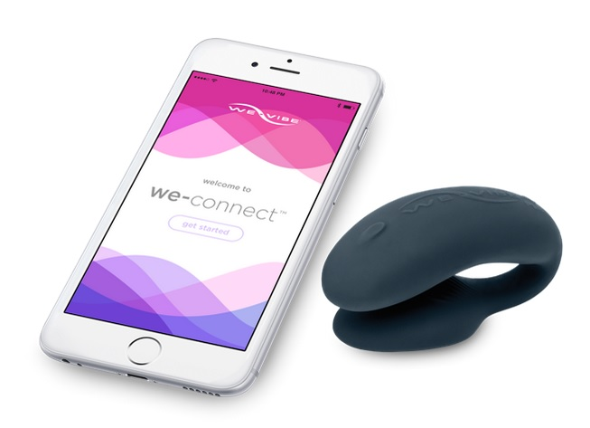 Image of We-Vibe 4 Plus product with phone. Click to view larger version